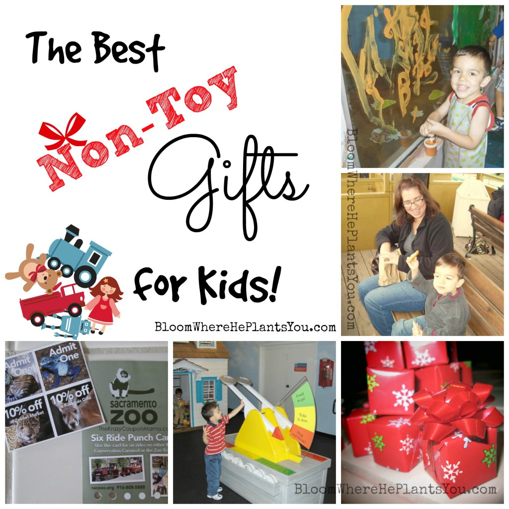"Got toy overload? Wanna kick that toy room clutter to the curb? Check out these AWESOME ""Experience"" gift ideas!  The Best Non-Toy Gifts for Kids!"