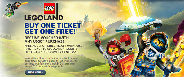Kids get free entry to Legoland California Resort, Legoland Florida Resort & Legoland discover centers with this coupon code! More. Get Coupon Code You must be present to receive your Annual Pass ID, as your photo is included. Pass expires one year from the date of first use. More. Get Deal. 2 used today. Sale. Coupon verified! Legoland.