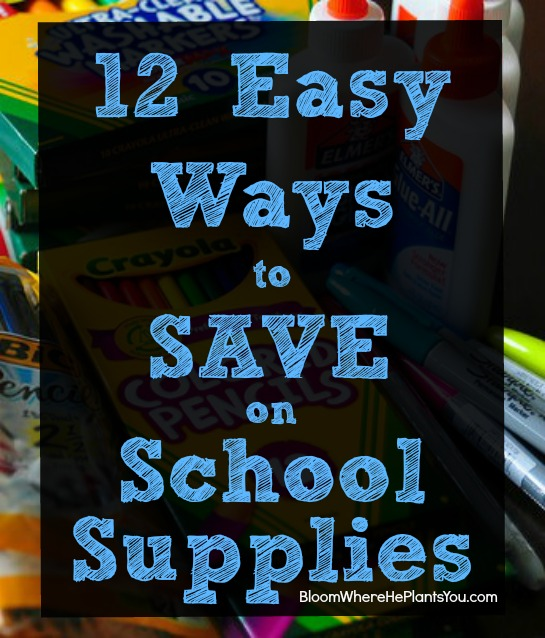 12 Easy Ways to Save on School Supplies