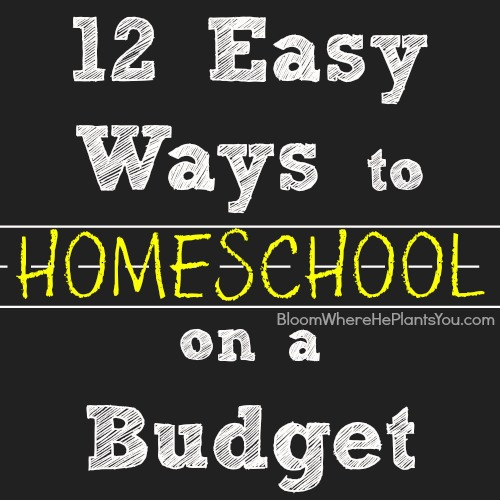12 Easy Ways to Homeschool on a Budget!