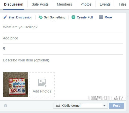 How to Sell Your Stuff on Facebook and Make Cash Fast - posting2