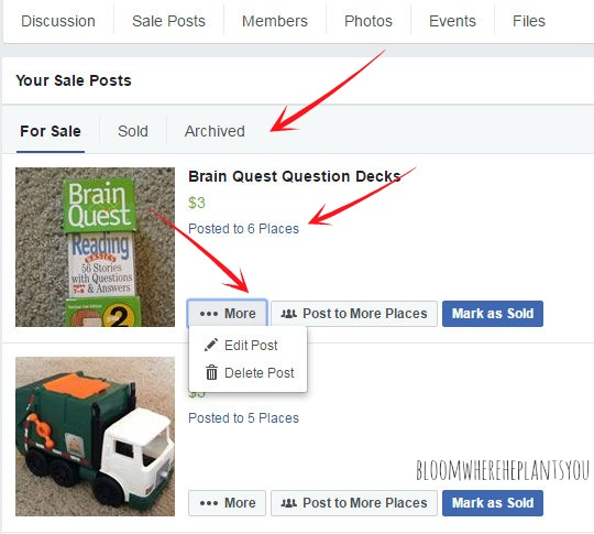 How to Sell Your Stuff on Facebook and Make Cash Fast - update posts2
