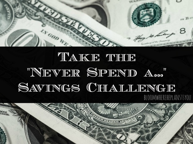 "The ""Never Spend A..."" Savings Challenge - Great way to save money quickly!"