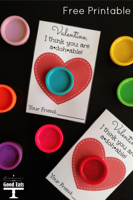 This Play-Doh Valentine Printable is so cute! Great option if you're looking for non-candy treats for the kids to pass out!