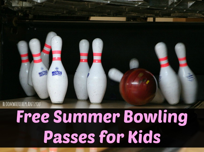 Free Summer Bowling Passes for Kids